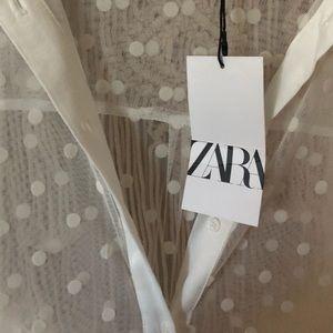 Sheer white Zara dress